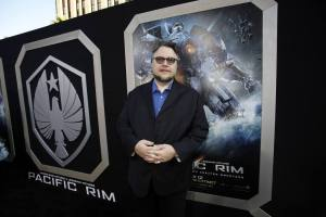 """Director Guillermo del Toro poses at the premiere of """"Pacific Rim"""" at Dolby theatre in Hollywood"""